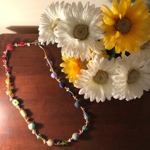 Multicolor Glass Beaded Necklace